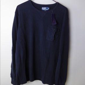Polo Ralph Lauren Waffle Knit Crewneck Sweatshirt